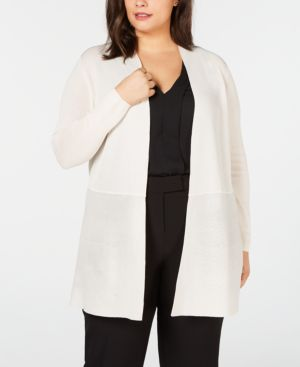Image of Anne Klein Plus Size Open-Front Cardigan
