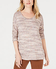 Style & Co Petite Striped Sweater, Created for Macy's