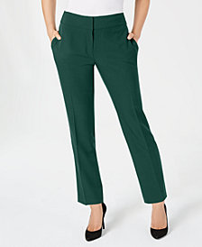 Kasper Petite Stretch Crepe Slim-Leg Pants