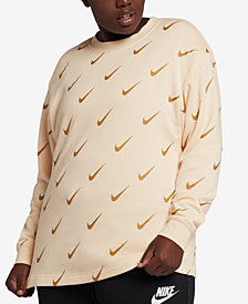 Nike Plus Size Sportswear Rally Metallic-Logo Top