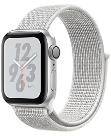 Apple Watch Nike+ Series 4 GPS, 40mm Silver Aluminum Case with Summit White Nike Sport Loop
