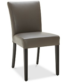 Tate Leather Parsons Dining Chair