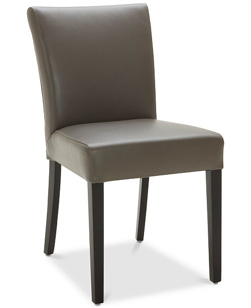 Furniture Tate Leather Parsons Dining Chair - Furniture - Macy s 923f65579