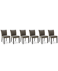 Tate Leather Parsons Dining Chair, 6-Pc. Set (6 Side Chairs)