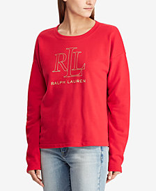 Ralph Lauren Petite Logo Graphic French Terry Pullover
