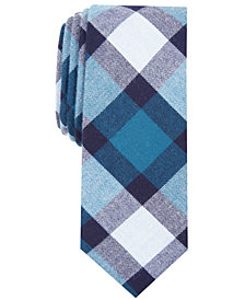 Bar III Men's Jasper Plaid Skinny Tie, Created for Macy's