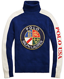 Polo Ralph Lauren Downhill Skier Men's Wool Graphic Turtleneck Sweater