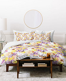 Ninola Design Flowers Sweet Bloom Yellow Duvet Set
