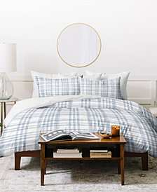 Little Arrow Design Co Winter Plaid Blue Duvet Set