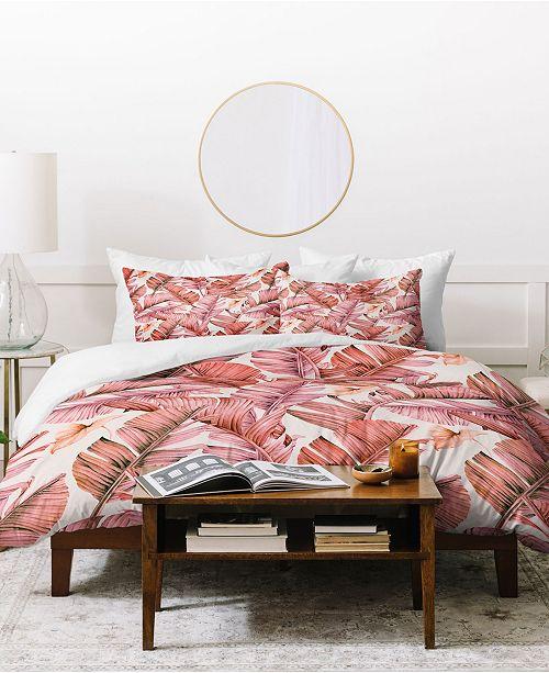 Deny Designs Marta Barragan Camarasa Jungle Paradise Pink Duvet Set