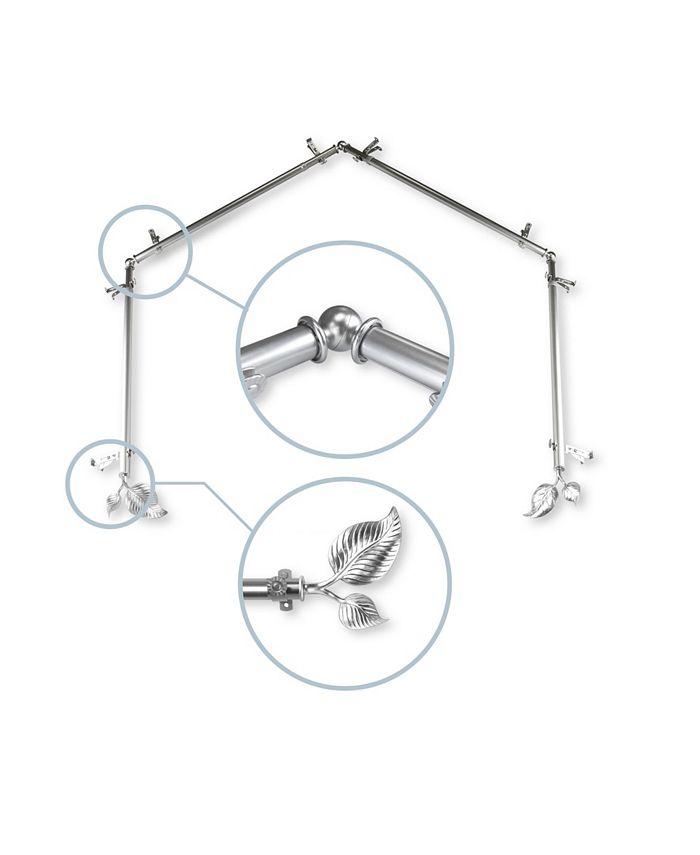 Rod Desyne - Ivy 4-Sided Bay Curtain Rod 13or16 inch dia - Satin Nickel