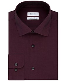 Men's Classic-Fit Non-Iron Performance Herringbone Spread Collar Dress Shirt