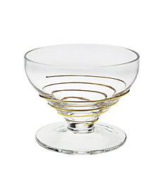 Classic Touch Swirl Set Of 6 Dessert Bowls