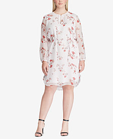 Lauren Ralph Lauren Plus Size Floral-Print Georgette Dress