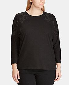 Lauren Ralph Lauren Plus Size Dolman-Sleeve Top