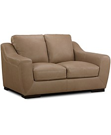 "CLOSEOUT! Gansey 67"" Leather Loveseat"