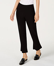 Eileen Fisher Crop-Flare Washable Crepe Pants, Regular & Petite