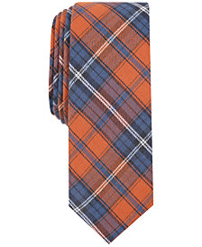 Penguin Men's Gideon Plaid Skinny Tie