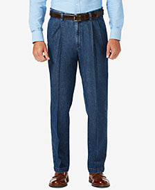 Haggar Men's Classic-Fit Stretch Denim Dress Pants