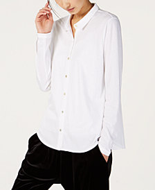 Eileen Fisher Organic Cotton Classic-Collar Shirt, Regular & Petite