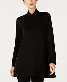 Eileen Fisher Tencel® Mock Turtleneck Long Tunic