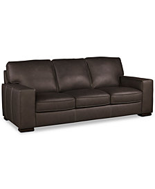 "Aloise 91"" Leather Sofa"