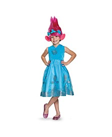 Trolls Poppy Deluxe Toddler Little and Big Girls Costume With Wig