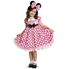 Disney Mickey Mouse Clubhouse Pink Minnie Mouse Glow in The Dark Big Girls Costume