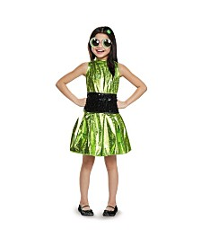Powerpuff Little Girls Buttercup Deluxe Little Girls Costume