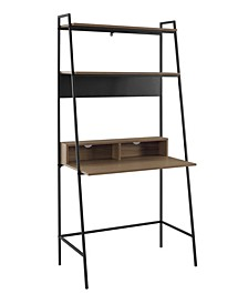 36 inch Metal and Wood Ladder Desk