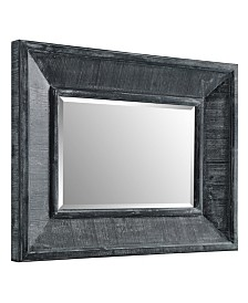 36 inch Rectangle Textured Wood Beveled Mirror