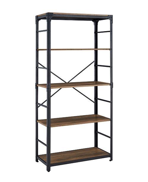 Walker Edison 64 inch Angle Iron Bookshelf