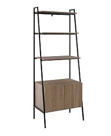 72 inch Metal and Wood Ladder Storage Shelf