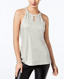 INC Sequinned Halter Top, Created for Macy's