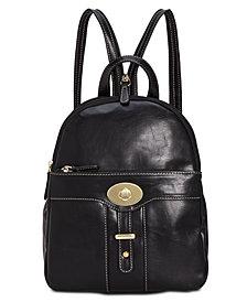 Giani Bernini Turn-Lock Glazed Backpack, Created for Macy's