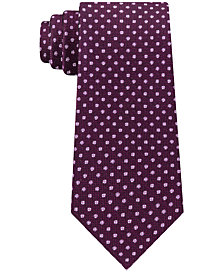 Michael Kors Men's Textured Allover Dot Silk Tie