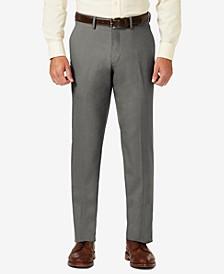 J.M. Sharkskin Straight Fit Flat Front Flex Waistband Dress Pants