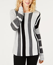 I.N.C. Colorblocked Long-Sleeve Sweater, Created for Macy's