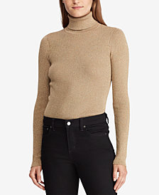 Lauren Ralph Lauren Lurex Turtleneck Sweater
