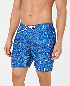 "Trunks Surf & Swim Co. Men's Sano Shark in Wave Print 6.5"" Volley Swim Trunks"