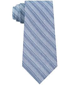 Calvin Klein Men's Linen Stripe Slim Tie