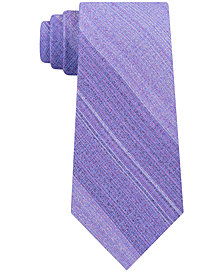 Calvin Klein Men's Particle Stripe Slim Silk Tie