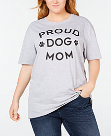Hybrid Plus Size Proud Dog Mom T-Shirt