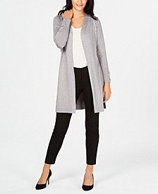 Lace-Up-Sleeve Metallic Cardigan, Created for Macy's