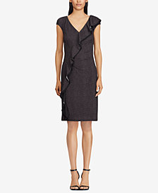 Lauren Ralph Lauren Ruffle-Trim Jersey Dress