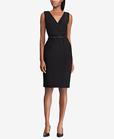 Lauren Ralph Lauren Belted Jersey Dress