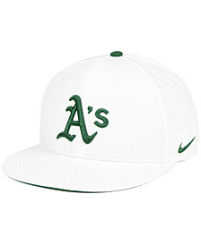 Nike Oakland Athletics White Ripstop Snapback Cap