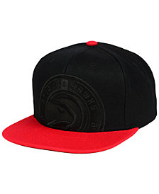 Mitchell & Ness Atlanta Hawks Cropped Satin Snapback Cap