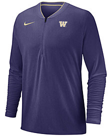 Nike Men's Washington Huskies Coaches Quarter-Zip Pullover 2018