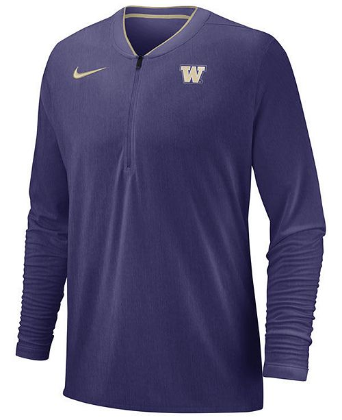 Nike Men s Washington Huskies Coaches Quarter-Zip Pullover 2018 ... e90a77c19